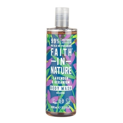 Body Wash Lavender and Geranium (Bottle) - Faith in Nature
