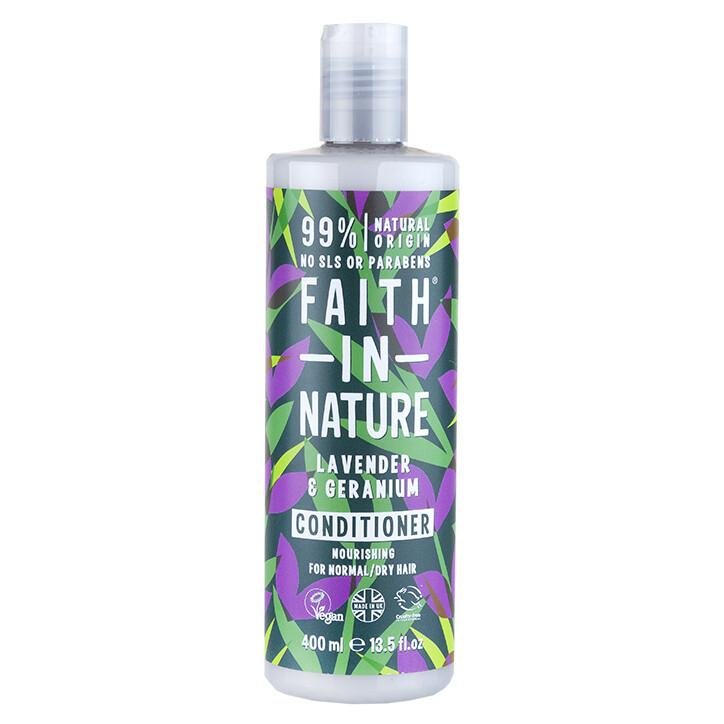 Conditioner Lavender and Geranium (Bottle) - Faith in Nature