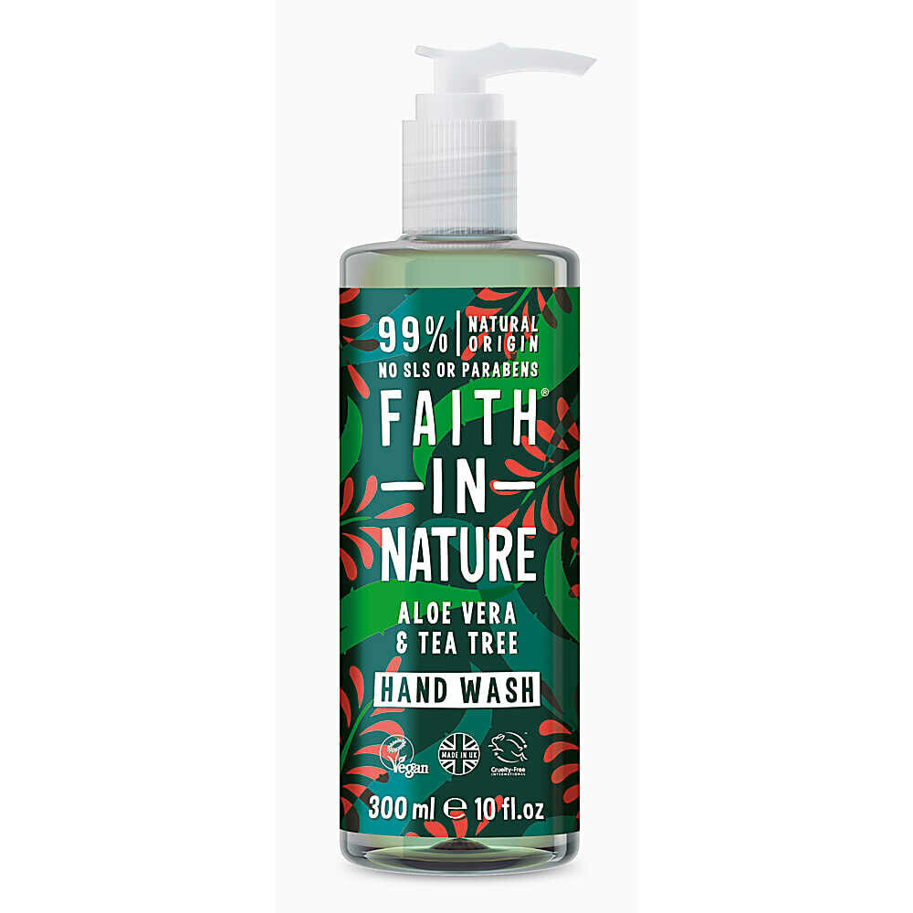Hand Wash Aloe Vera and Tea Tree (Bottle) - Faith in Nature