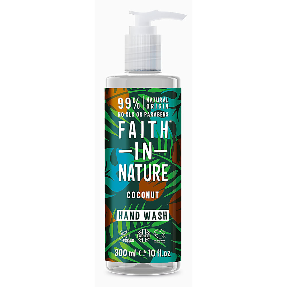 Hand Wash Coconut (Bottle) - Faith in Nature