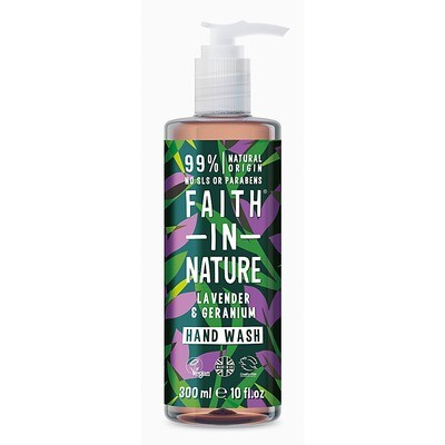 Hand Wash Lavender and Geranium (Bottle) - Faith in Nature