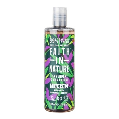 Shampoo Lavender and Geranium (Bottle) - Faith in Nature