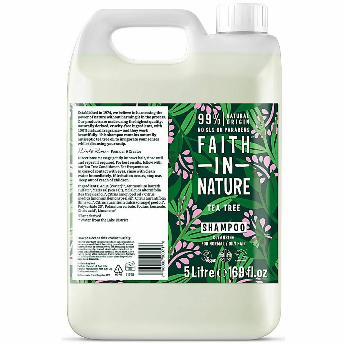 Shampoo Tea Tree (Bottle) - Faith in Nature