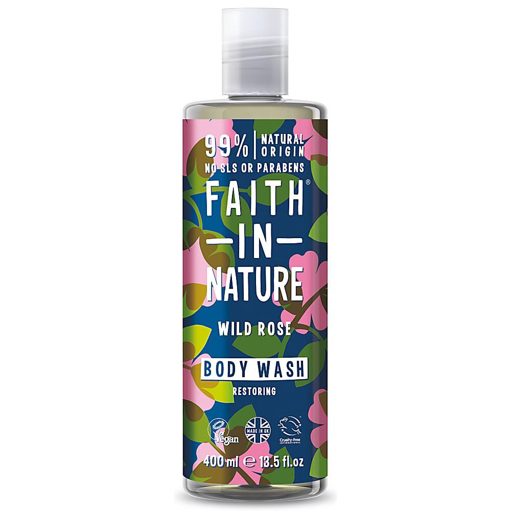 Body Wash Wild Rose (Bottle) - Faith in Nature