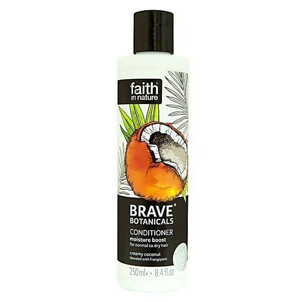 Conditioner Brave Botanicals Coconut & Frangipani (Bottle) - Faith in Nature