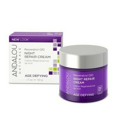 Age-Defying Night Repair Cream with Resveratrol (Jar) - Andalou Naturals