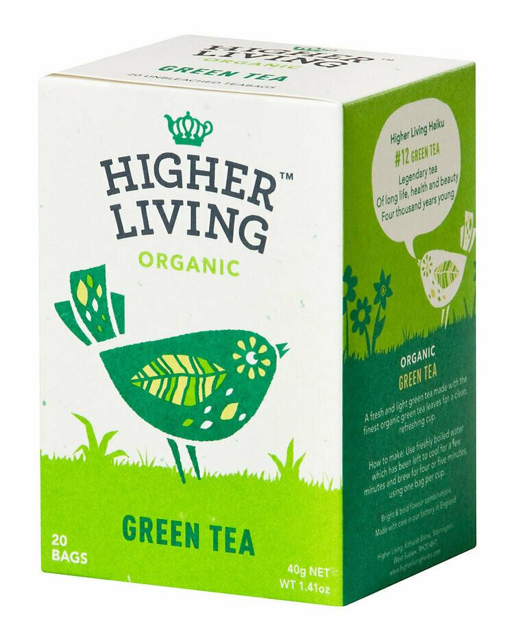 Green Tea Enveloped Teabags شاي أخضر بالليمون (Box) - Higher Living Organic