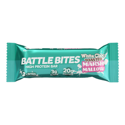 Bar Energy White Chocolate Marshmallow (Bar) - Battle Bites