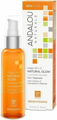 Argan Oil and C Natural Glow 3 in 1 Treatment (Bottle) - Andalou Naturals