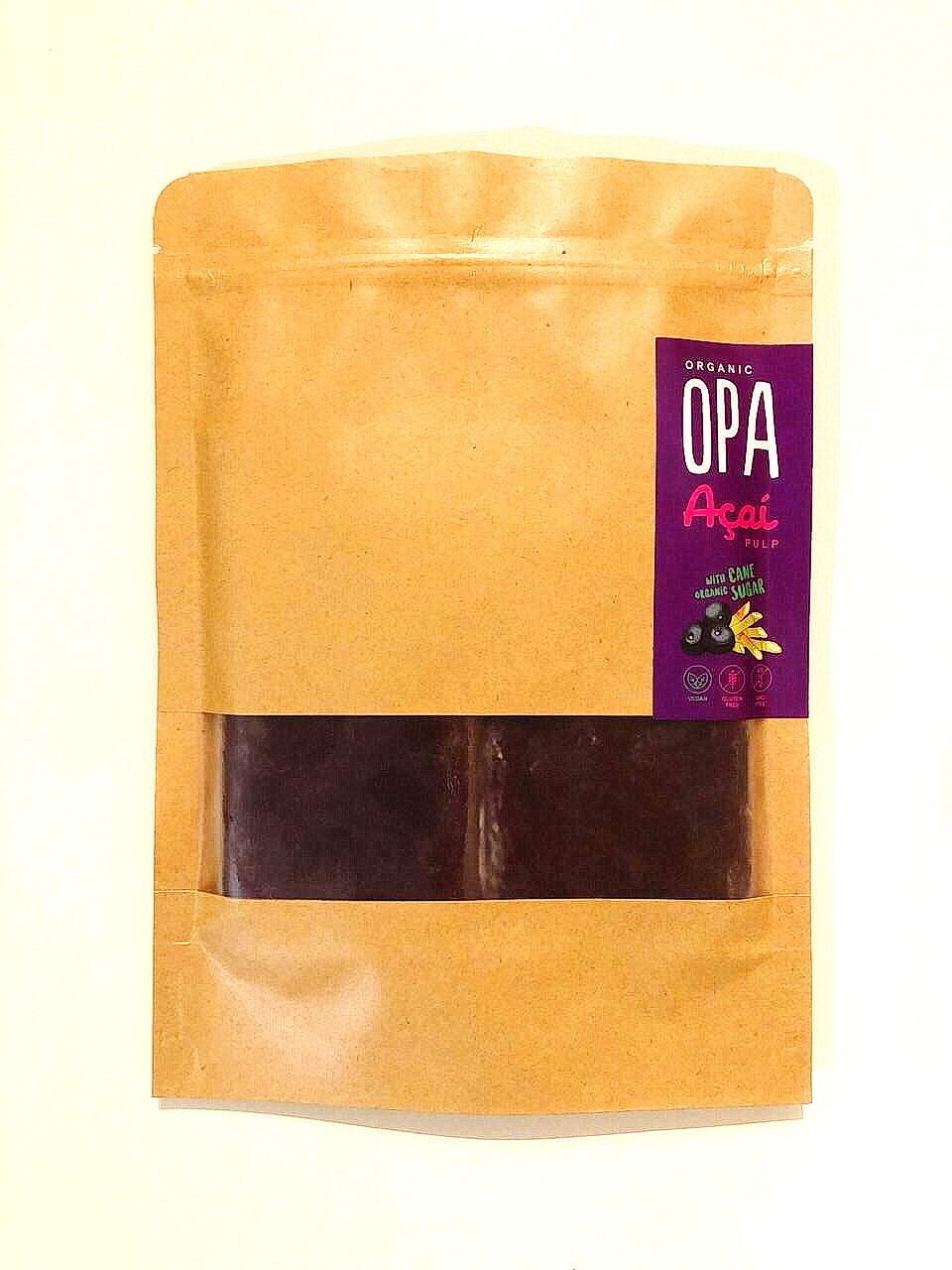 Frozen Acai Pulp/ Sugar Cane (Bag) - Organic Opa