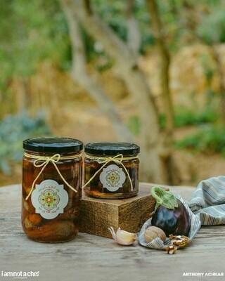 Eggplant Stuffed with Walnut باذنجان محشي بالجوز (Jar) - Namliyet Setti