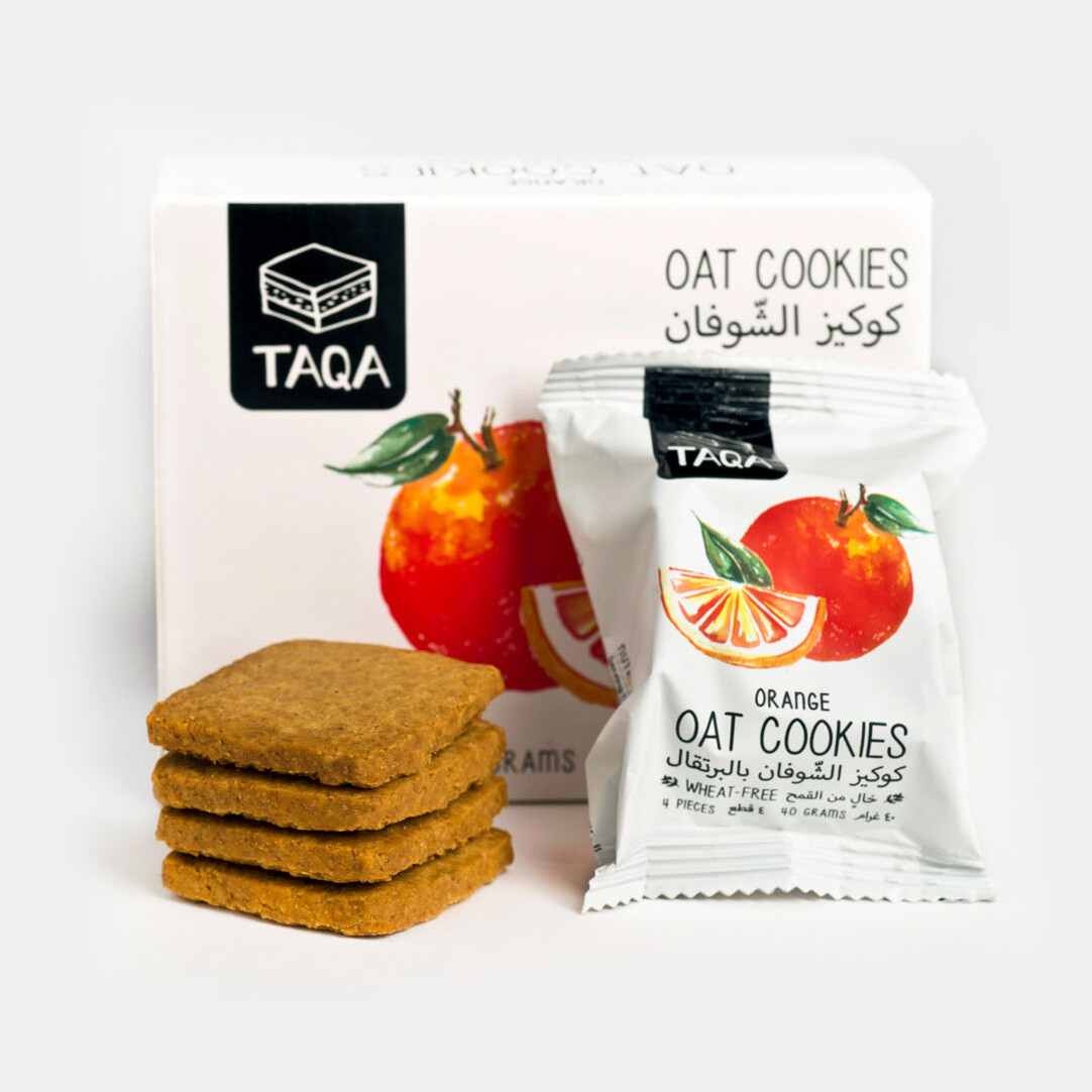Oat Cookies Orange (Box) - Taqa