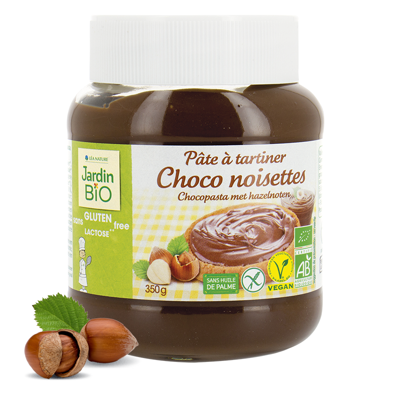 Pâte à Tartiner Chocolat et Noisette (Jar) - Jardin Bio