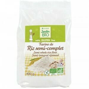 Farine de Riz Semi Complet Bio دقيق أرز عضوي نصف دقيق (Bag) - Jardin Bio