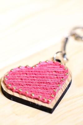 String Art - Key Chain Heart (Piece) - Coup de Marteau