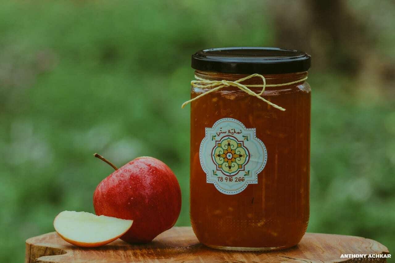 Apple and Ginger Jam مربى التفاح والزنجبيل (Jar) - Namliyet Setti