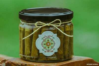 Vine Leaves stuffed with Labneh ورق عنب محشي لبنة (Jar) - Namliyet Setti