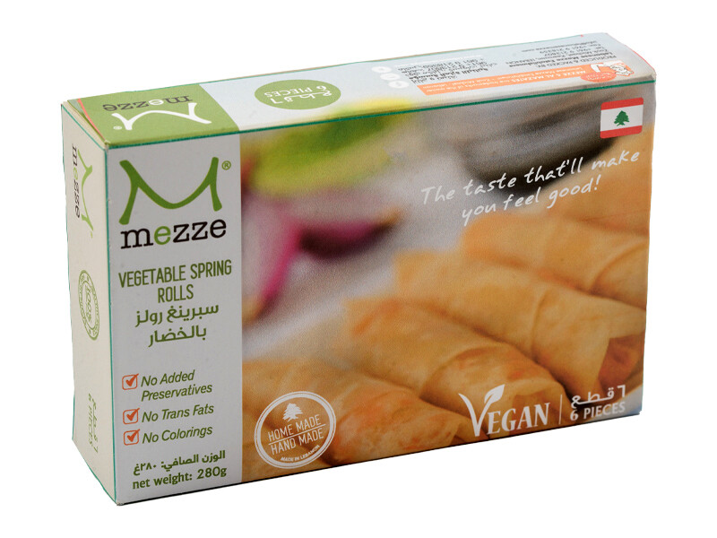Pastries Frozen Vegetable Spring Rolls (Pack) - Mezze