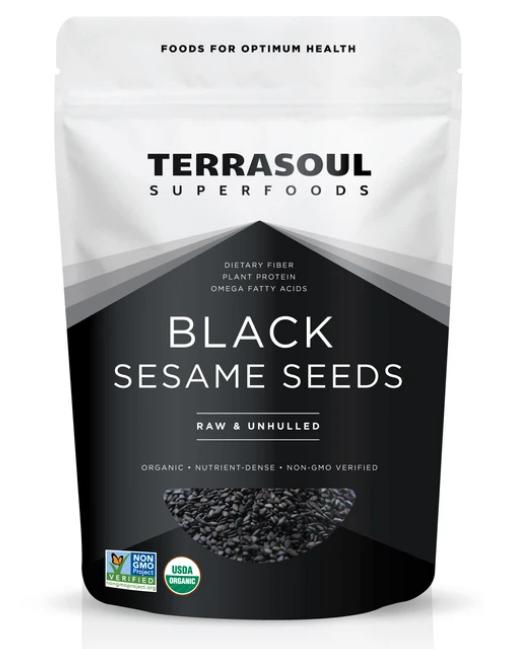 Sesame Seeds Black (Bag) - Terrasoul Superfoods