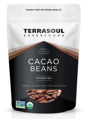 Cacao Beans Unpeeled (Bag) - Terrasoul Superfoods