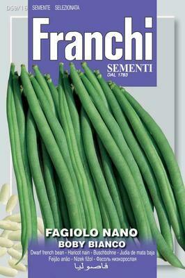 Bean Dwarf Boby Bianco (Phaseolus vulgaris L.) (Bag) - Franchi Sementi