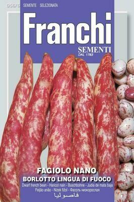 Bean Dwarf Lingua Di Fuoco (Phaseolus vulgaris L.) (Bag) - Franchi Sementi