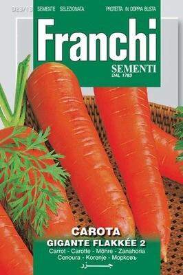 Carrot Flakkee Gigante (Daucus Carota) (Bag) - Franchi Sementi