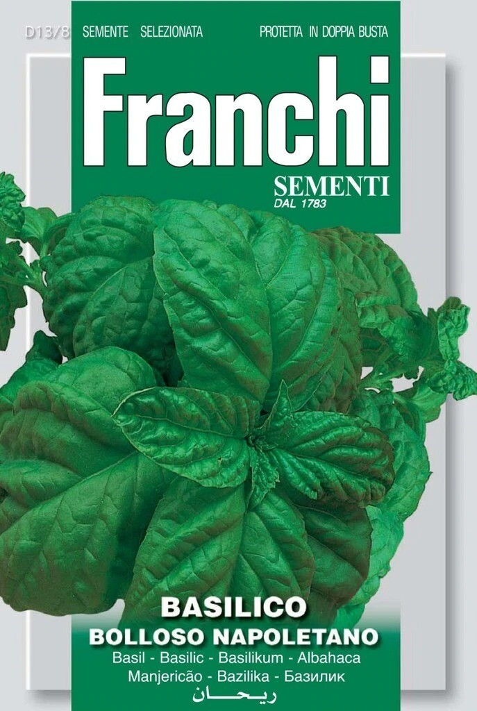 Basil Bolloso Napoletano (Ocimum basilicum L.) (Bag) - Franchi Sementi