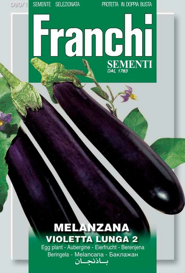 Eggplant Violetta Lunga (Bag) - Franchi Sementi