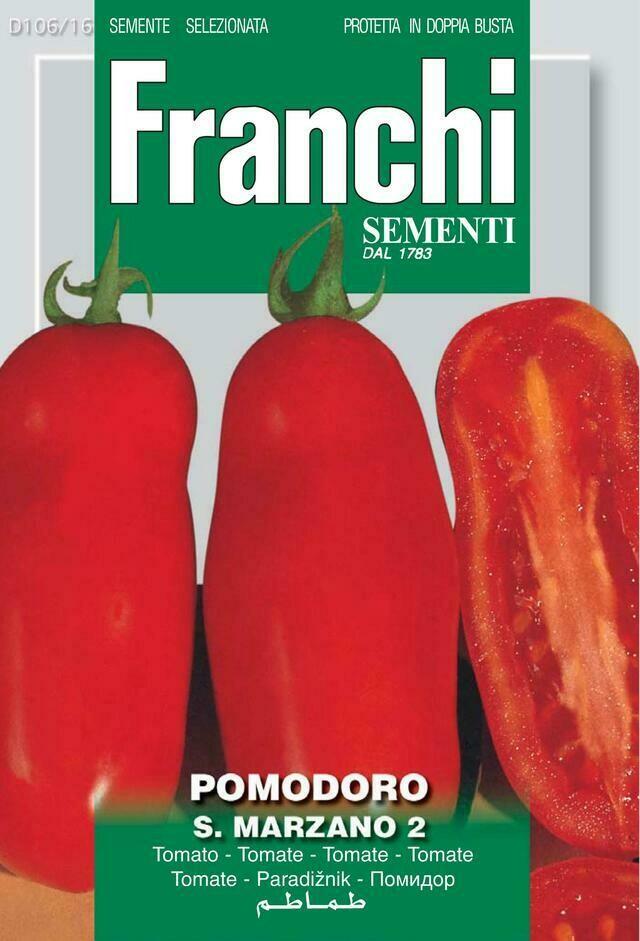 Tomato San Marzano Naples (Solanum Lycopersicum L.) (Bag) - Franchi Sementi