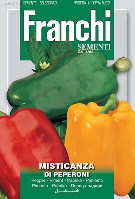 Pepper Bell Mixed (Capsicum annuum L.) (Bag) - Franchi Sementi