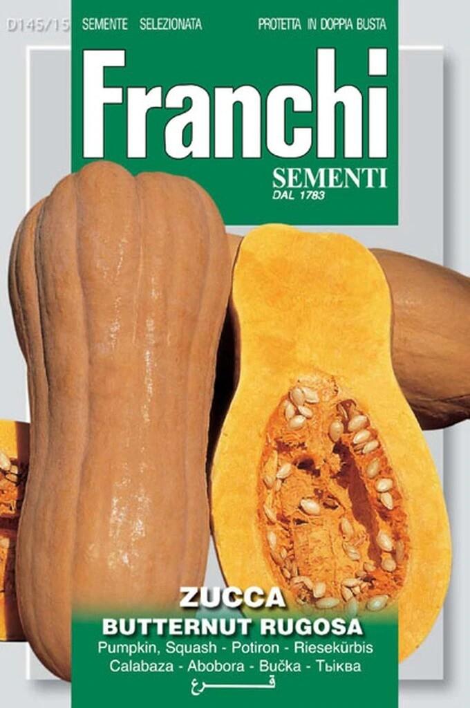 Squash Winter Butternut Rugosa (Wrinkled Butternut) (Bag) - Franchi Sementi