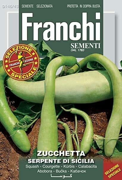 Zucchini Serpente Di Sicilia (Bag) - Franchi Sementi