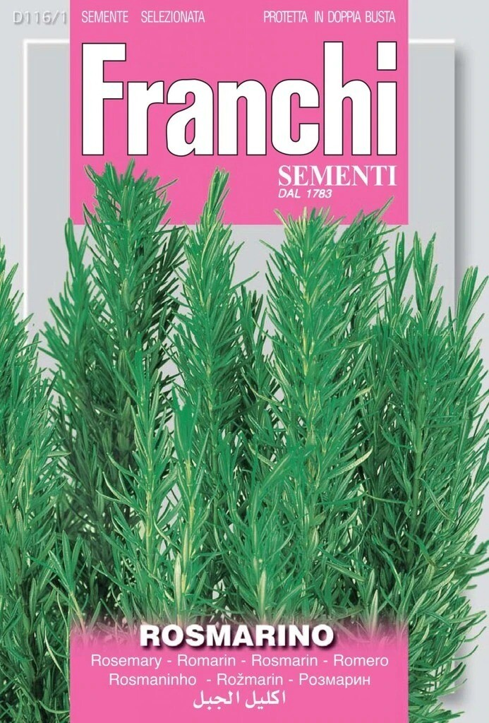 Rosemary (Rosmarinus officinalis) (Bag) - Franchi Sementi
