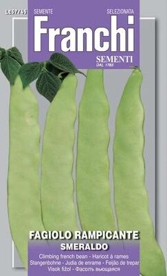 Bean Climbing French Smeraldo (Phaseolus vulgaris L.) (Bag) - Franchi Sementi