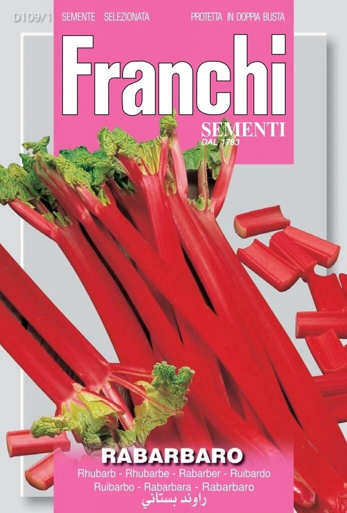 Rhubarb (Rheum undulatum) (Bag) - Franchi Sementi