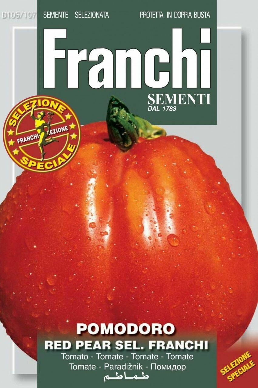 Tomato Red Pear Franchi Of Bergamo (Solanum Lycopersicum L.) (Bag) - Franchi Sementi