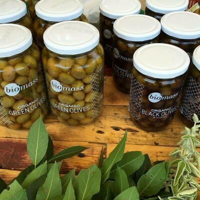 Olives Black Organic زيتون عضوي (Jar) - Biomass