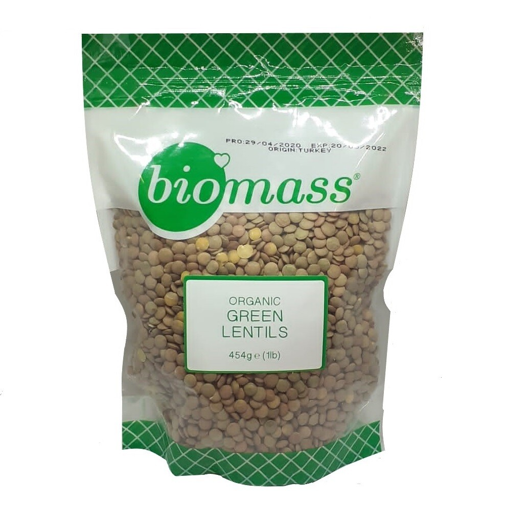 Lentils Green Organic (Bag) - Biomass