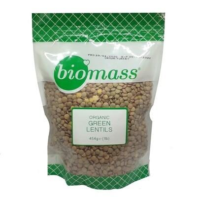 Lentils Green Organic (Bag) - Biomass