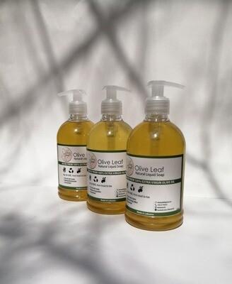 Soap Liquid Olive Oil (Dispenser) - Olive Leaf