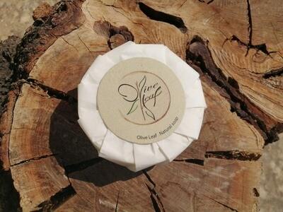 Soap Bar Round Olive Oil (Bar) - Olive Leaf