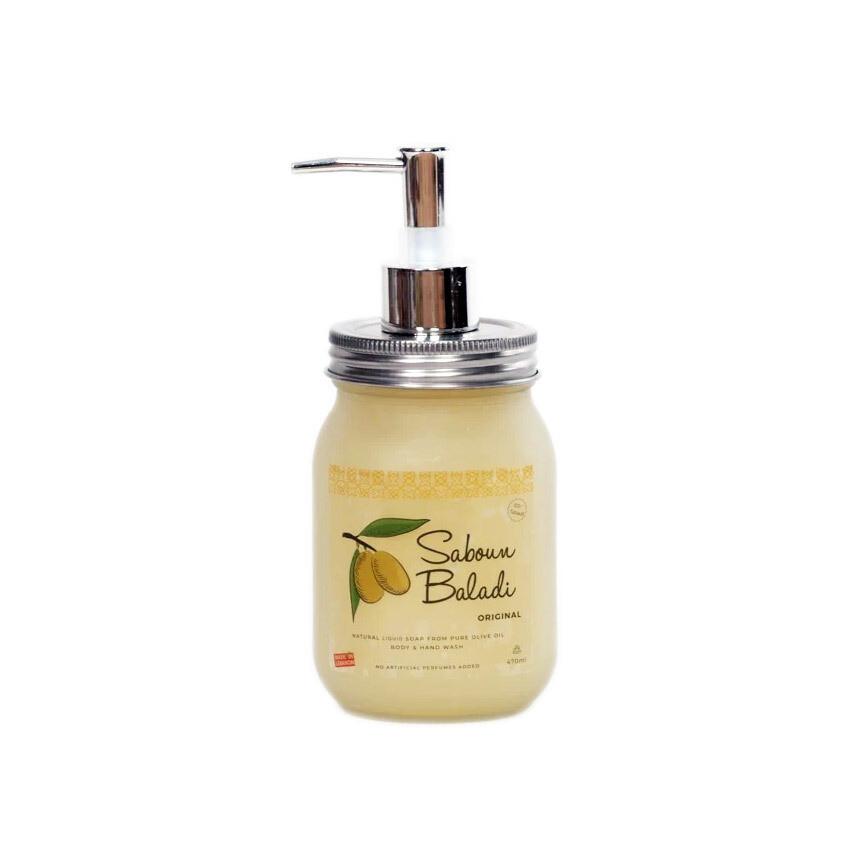 Soap Olive Oil Liquid Original (Dispenser) - Saboun Baladi