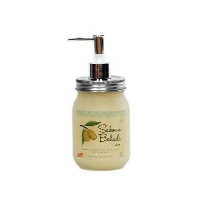 Soap Olive Oil Liquid Mint (Dispenser) - Saboun Baladi