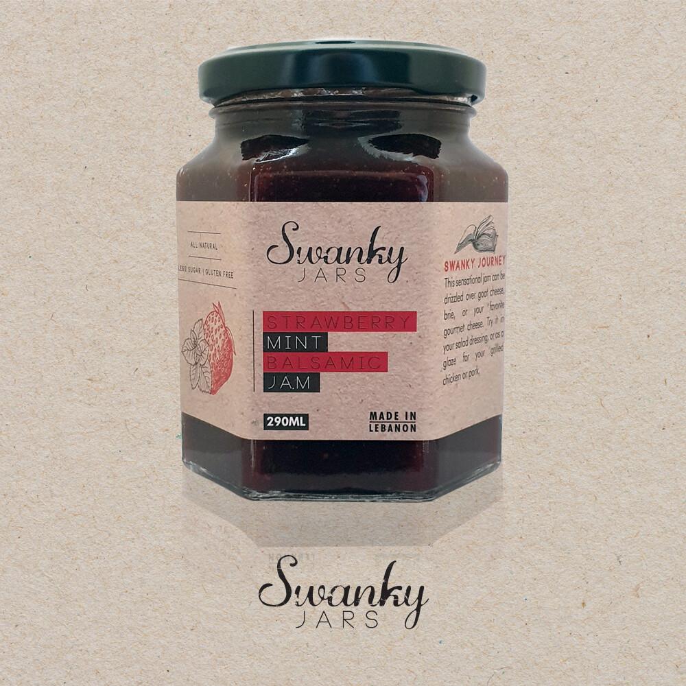Strawberry Mint Balsamic Jam (Jar) - Swanky Jars