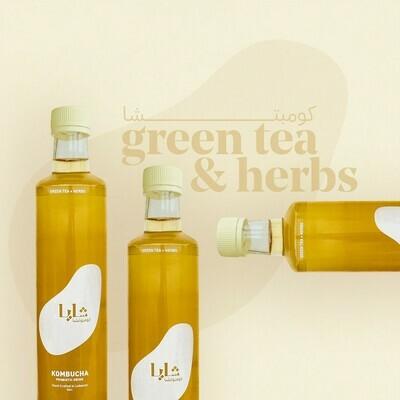 Kombucha Green Tea and Herbs (Bottle) - Shaya