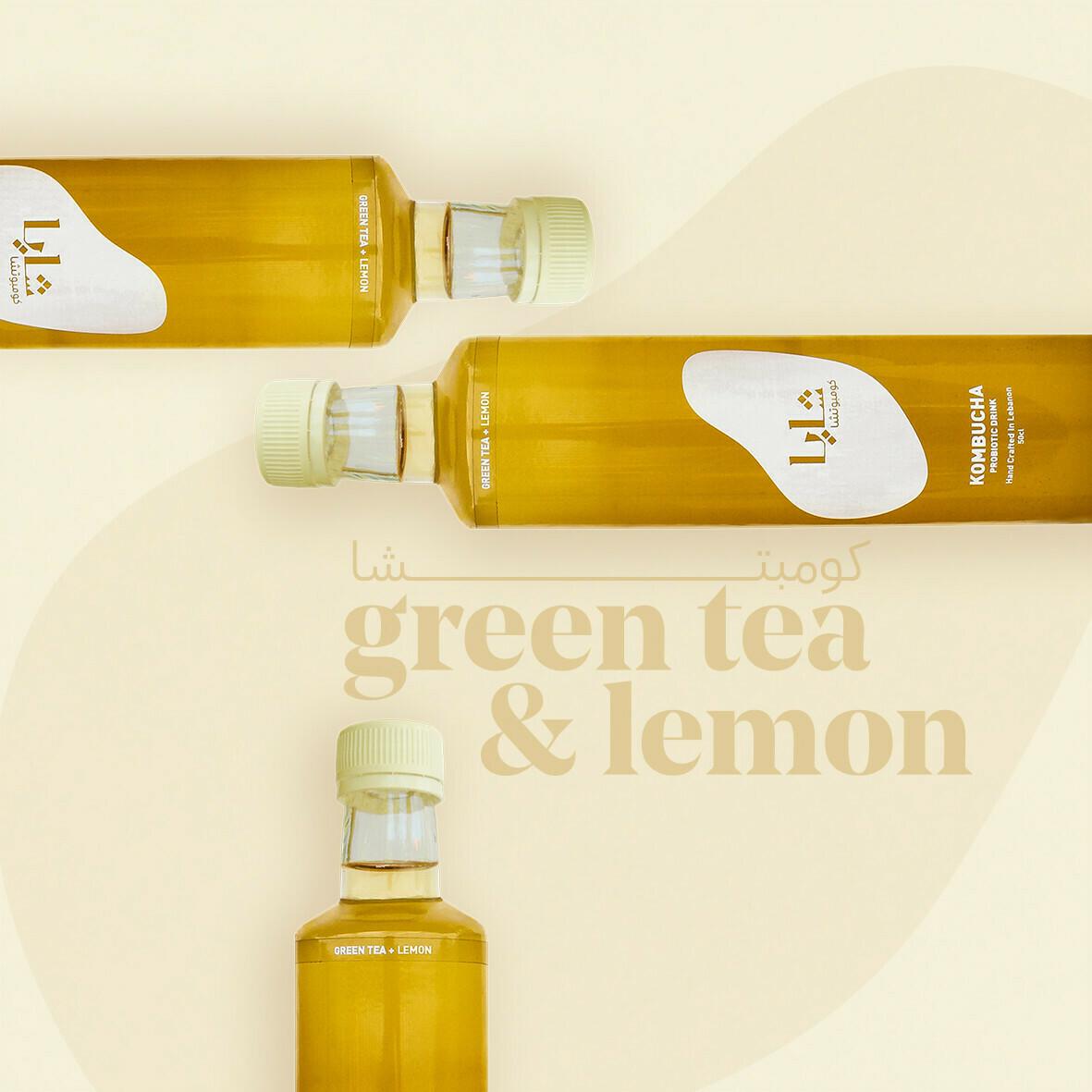 Kombucha Green Tea and Lemon (Bottle) - Shaya