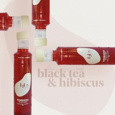 Kombucha Black Tea and Hibiscus (Bottle) - Shaya