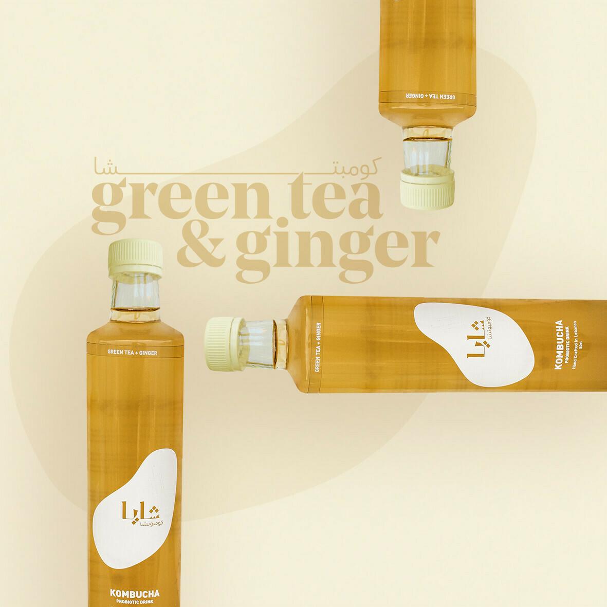 Kombucha Green Tea and Ginger (Bottle) - Shaya
