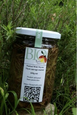 Thyme Pickles كبيس الزعتر (Jar) - BioTerre